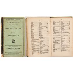 Pierson's Newark City Directory for 1841-2  (82850)