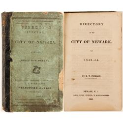 Pierson's Newark City Directory for 1843-44  (82851)