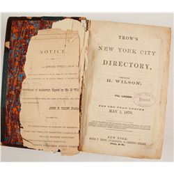 Trow's New York City Directory. 1870  (82879)