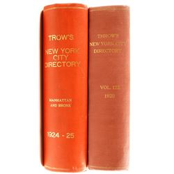 Trow's New York Directories for 1920, 1924  (81146)