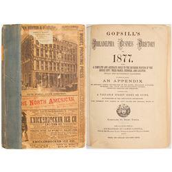 Gopsill's Philadelphia Business Directory for 1877  (82960)
