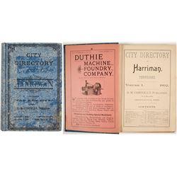 City Directory of Harriman, TN, 1892  (82845)