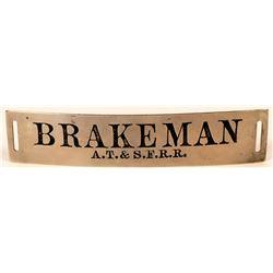 Atchison, Topeka & Santa Fe Railroad Brakeman Cap Badge  (107898)