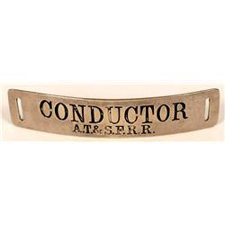 Athchison, Topeka & Santa Fe Railroad Conductor Cap Badge  (107896)