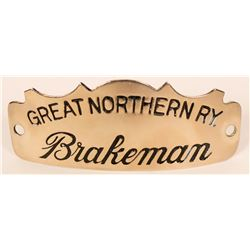 Great Northern Railway Brakeman Cap Badge  (107895)