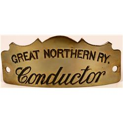 Great Northern Railway Conductor Cap Badge  (113276)