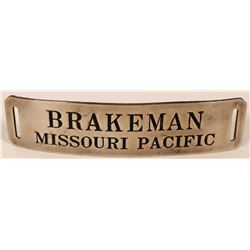 Missouri Pacific Railroad Brakemen Cap Badge  (113271)