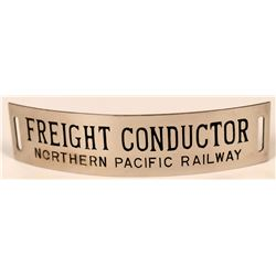 Northern Pacific Railway Freight Conductor Cap Badge  (113281)
