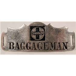 Santa Fe Baggageman Cap Badge  (113287)