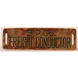Southern Pacific Co. Freight Conductor Cap Badge  (113282)