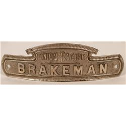 Union Pacific Railroad Brakeman Cap Badge  (113273)