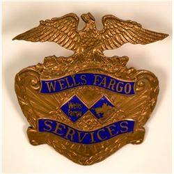 Wells Fargo Services Hat Badge  (117326)