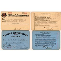 El Paso & Southwestern System Railroad Passes  (113304)