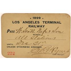 Los Angeles Terminal Railway Annual Pass  (113313)
