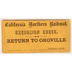 California Northern Railroad Excursion Ticket  (119661)