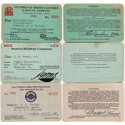 Three Different California Railroad Passes  (113317)