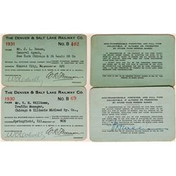 Denver & Salt Lake Railway Co. Annual Passes  (113301)