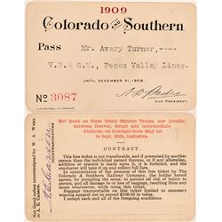 Colorado & Southern Railway Annual Pass  (113295)