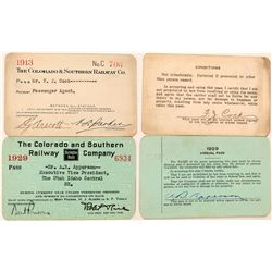 Colorado & Southern Railway Co. Annual Pass Pair  (113297)