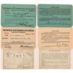 Three Different Georgia Railroad Passes  (113321)