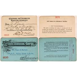 Two Different Georgia / Florida Railroad Annual Passes   (113299)