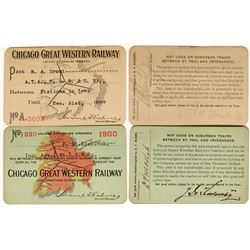 Chicago Great Western Railway Annual Passes  (113298)