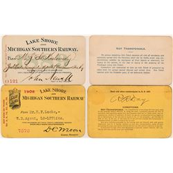 Lake Shore & Michigan Southern Railway Annual Passes  (113310)