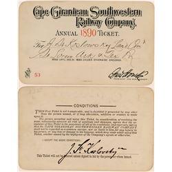 Cape Girardeau Southwestern Railway Company Annual Pass  (113302)