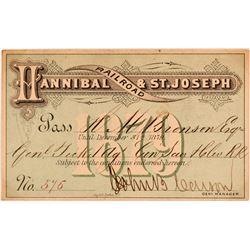 Hannibal & St. Joseph Railroad Annual Pass  (113305)