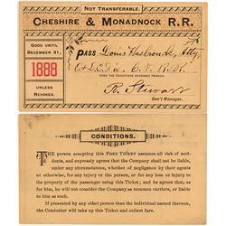 Cheshire & Monadnock Railroad Annual Pass  (113319)