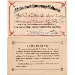 Adirondack Company's Railroad Annual Pass  (113291)