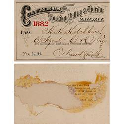 Railway Pass, Columbus, Hocking Valley, & Toledo 1882  (59924)