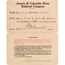 Astoria & Columbia River Railroad Co. Annual Pass  (113294)