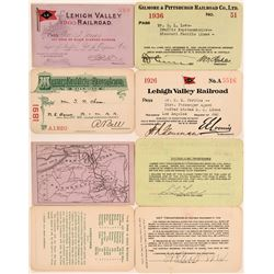 Four Pennsylvania Railroad Passes  (113324)