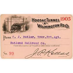 Hoosac Tunnel & Wilmington Railroad Co. Annual Pass  (113306)