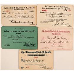 """St. Louis"" Railroad Pass Collection  (113327)"