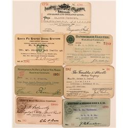 Assorted US Railroad Pass Collection  (113329)