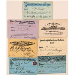 Mid-Western Railroad Pass Collection  (113328)