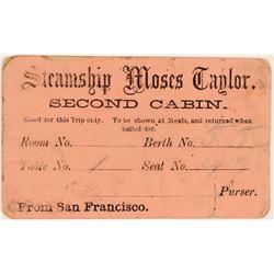 Steamship Moses Taylor Boarding Pass  (119746)