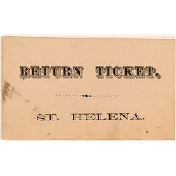 Steamer or Stage Return Ticket  (119747)