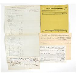 Virginia & Truckee Railroad Paper Documents Group (5)  (111930)