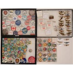 Aviation Buttons and Toy Flight Wing Badges  (119150)