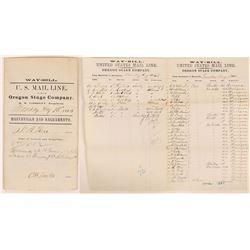 Marysville & Sacramento Stagecoach Waybill- Oregon Stage Company, 1869  (111983)