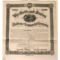 Bodie & Benton Railway & Commercial Company Bond, 1886  (111772)