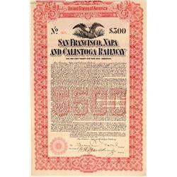 San Francisco, Napa, & Calistoga Railway $500 Bond  (106864)