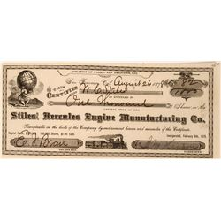 Stiles Hercules Engine Manufacturing Company Stock issued to Inventor WC Stiles  (119426)