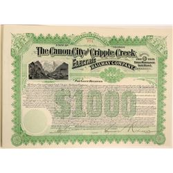 Canon City and Cripple Creek Electric Railway Company Bond  (119391)