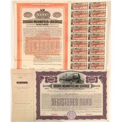 Chicago, Indianapolis & Louisville Railway Co Bond Specimens (2)  (111118)
