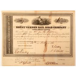 Mount Vernon Railroad Co Stock Certificate  (101266)