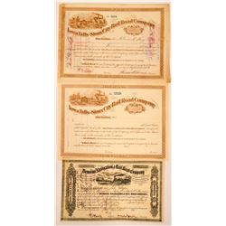 Three Iowa Railroad Stock Certificates  (115923)